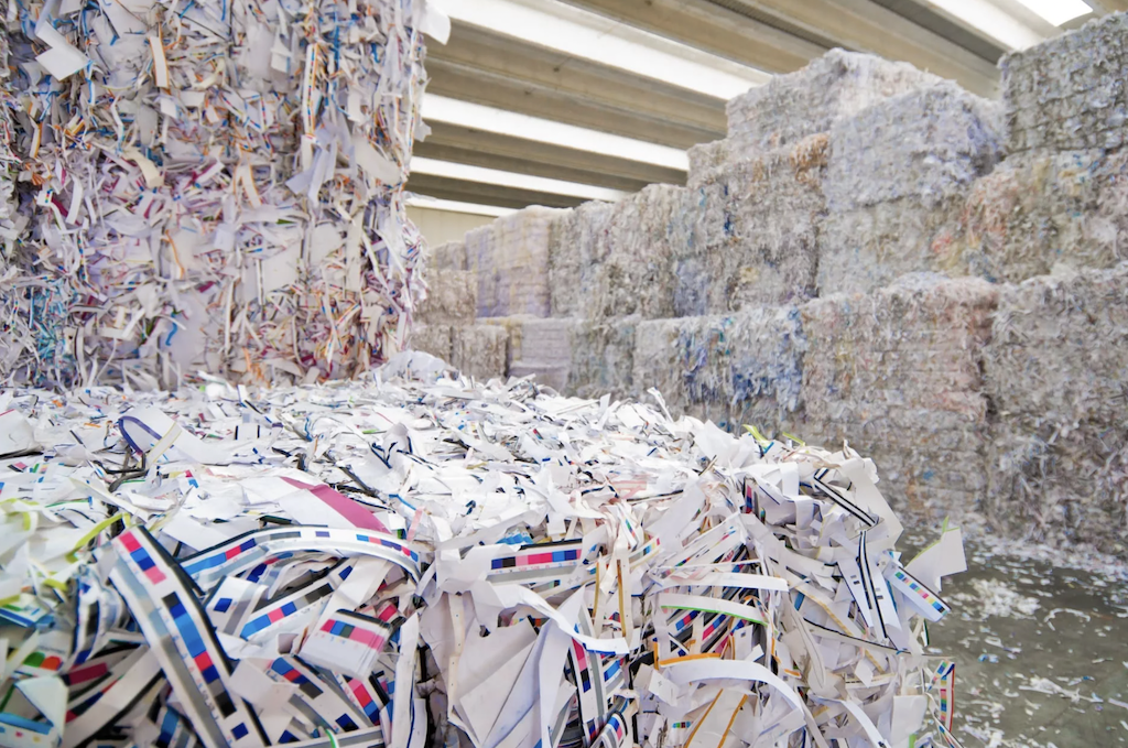 Waste paper recycling business